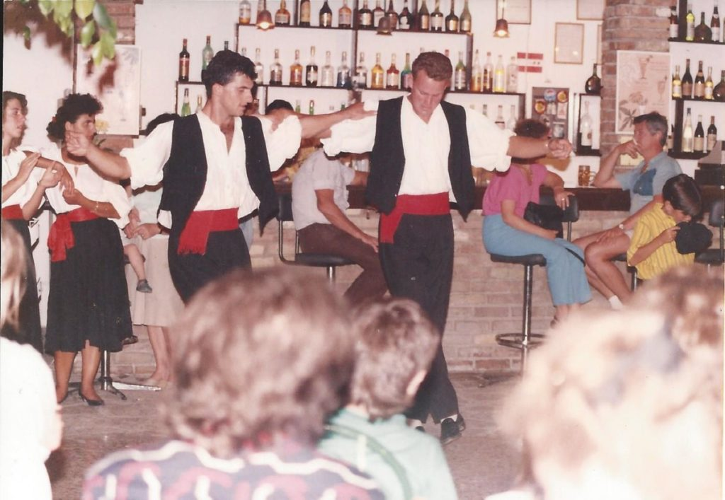 Summer 1989 Greek dancing night