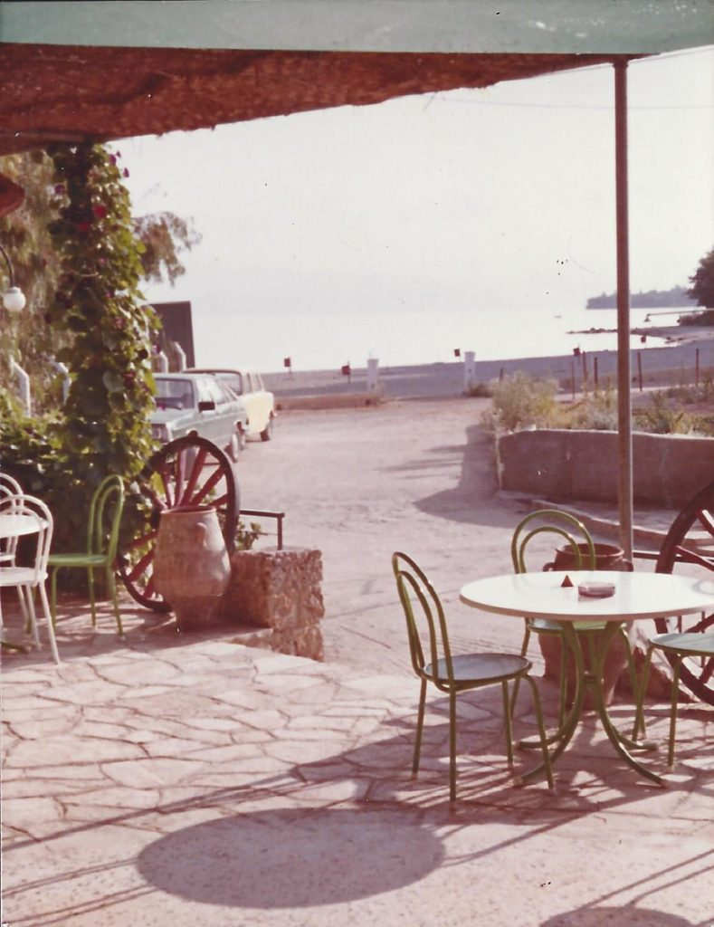 Summer 1986 Beach view from Iliada Beach Snack Bar