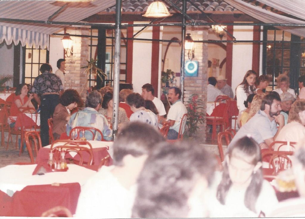 Summer 1990 Dinnertime at the Iliada Beach Restaurant