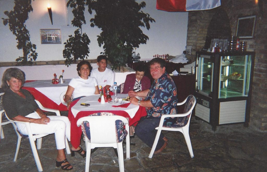 Summer 1997 Family gathering for dinner